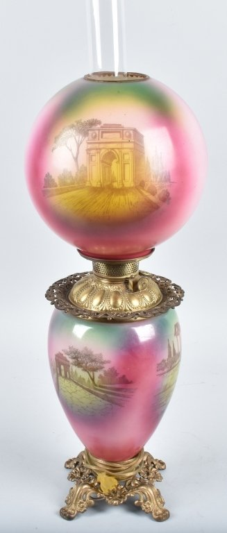 GONE with the WIND OIL LAMP with ROMAN CHARIOTS - 4
