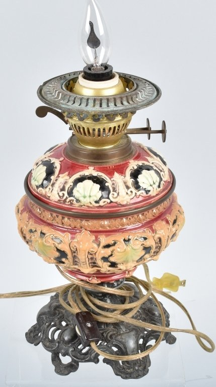 VINTAGE OIL LAMP, SHADES and MORE - 5