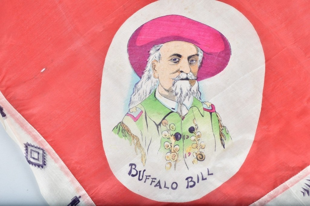 BUFFALO BILL CODY SOUVENIR SILK SCARF - 2