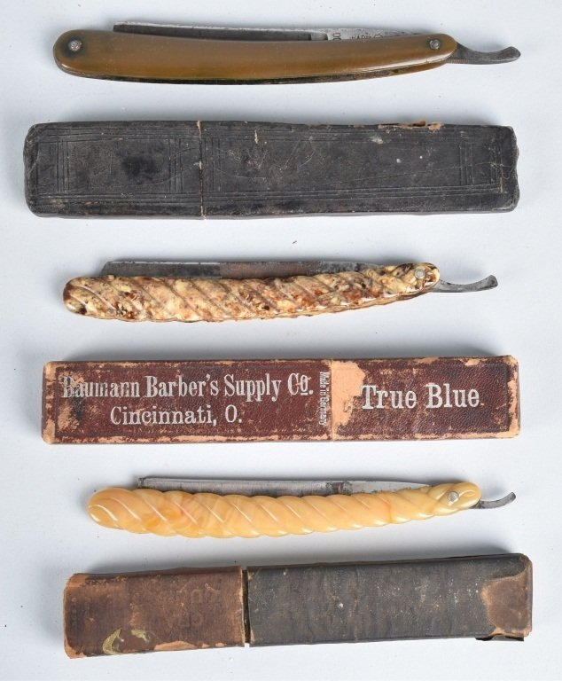 10- ANTIQUE STRAIGHT RAZORS - 2