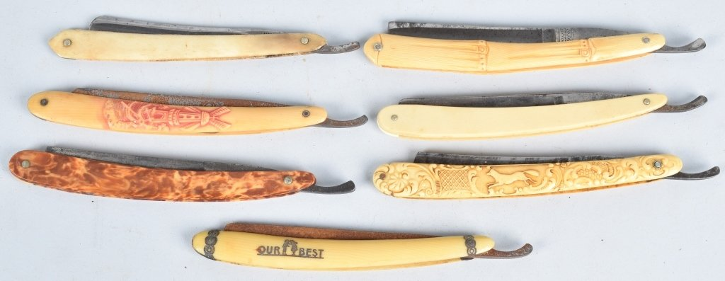 10- ANTIQUE STRAIGHT RAZORS - 3