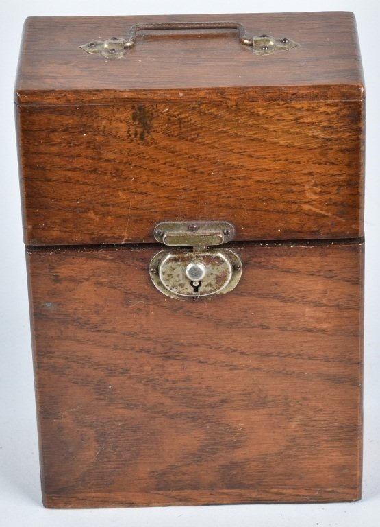 ANTIQUE STRAIGHT RAZOR BARBER BOX w/ 6 RAZORS - 4