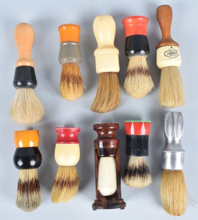 10- VINTAGE SHAVING BRUSHES