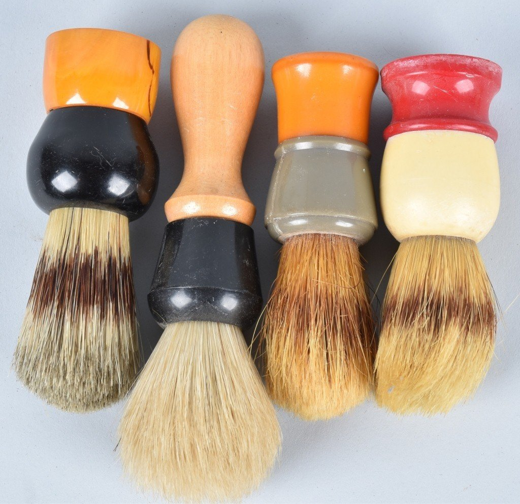 10- VINTAGE SHAVING BRUSHES - 2