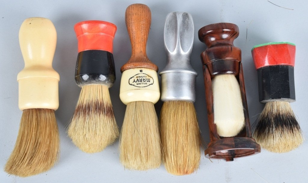 10- VINTAGE SHAVING BRUSHES - 3