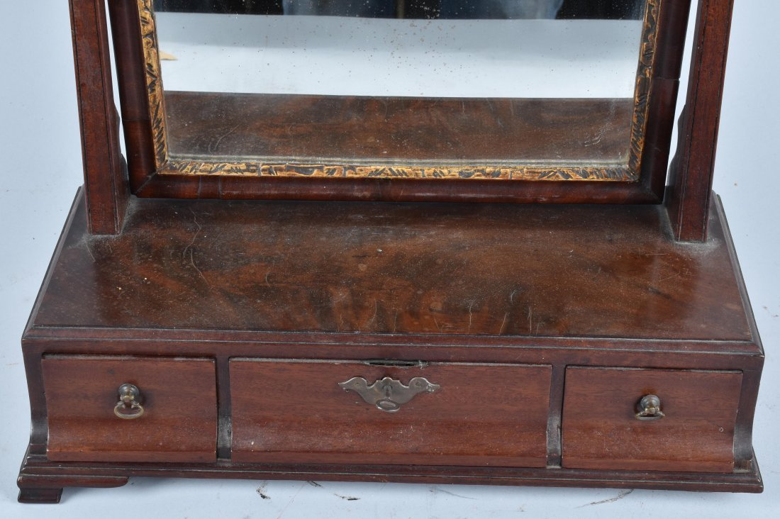 ANTIQUE SHAVING MIRROR WITH DRAWERS - 2