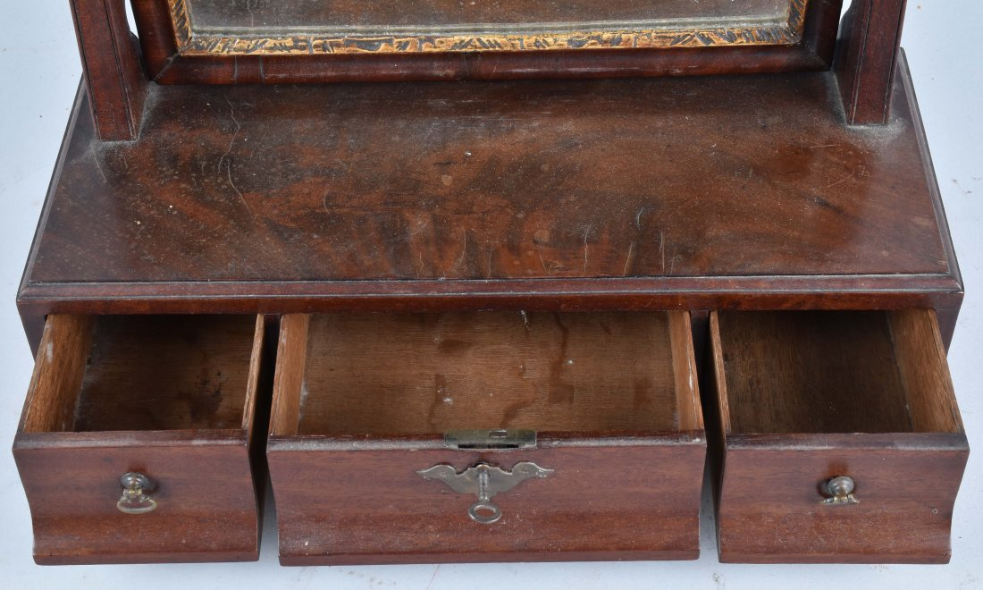 ANTIQUE SHAVING MIRROR WITH DRAWERS - 3