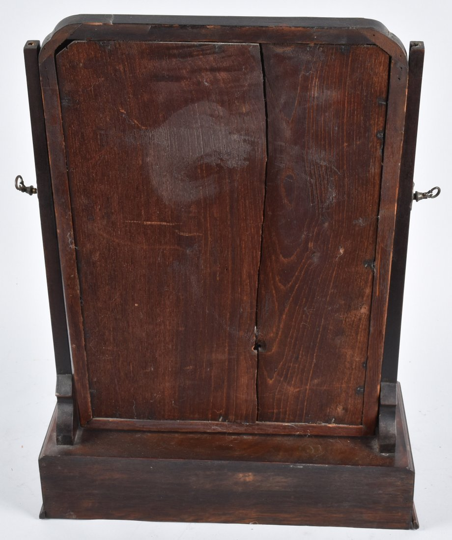 ANTIQUE SHAVING MIRROR WITH DRAWERS - 4