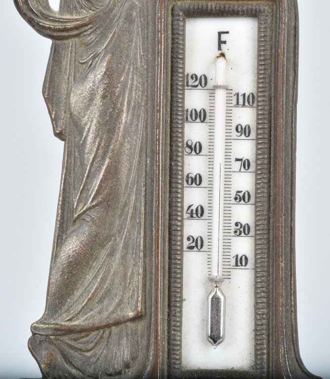 CAST BRASS FIGURAL THERMOMETER, VINTAGE - 4