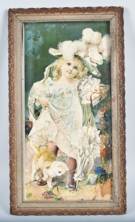 1890s ADVERTISING POSTER w/ CHILD