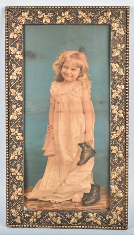 1890s A&P TEA CO. ADVERTISING POSTER w/ CHILD
