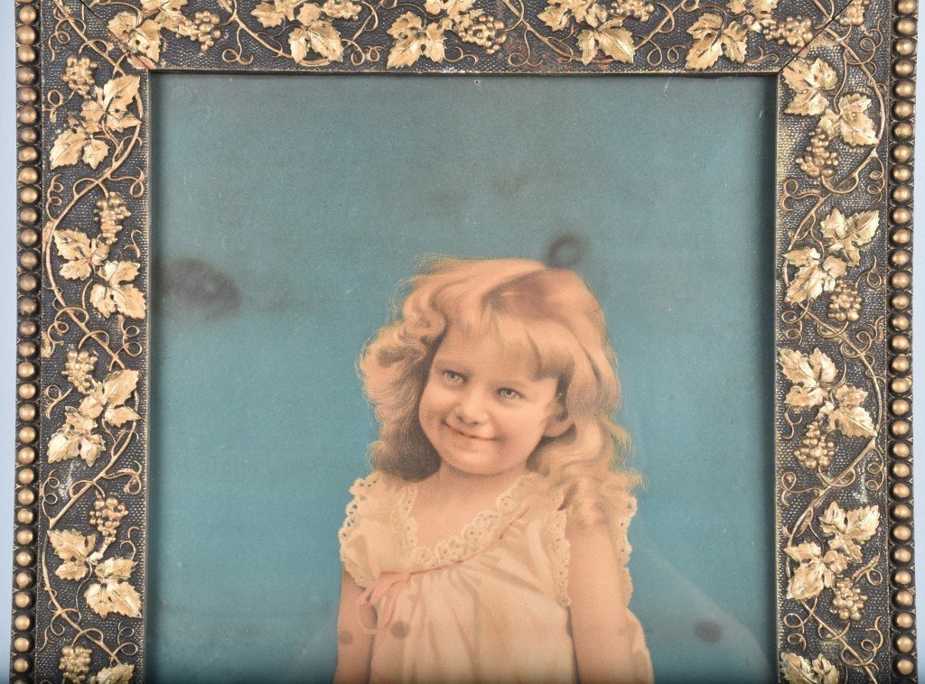 1890s A&P TEA CO. ADVERTISING POSTER w/ CHILD - 2