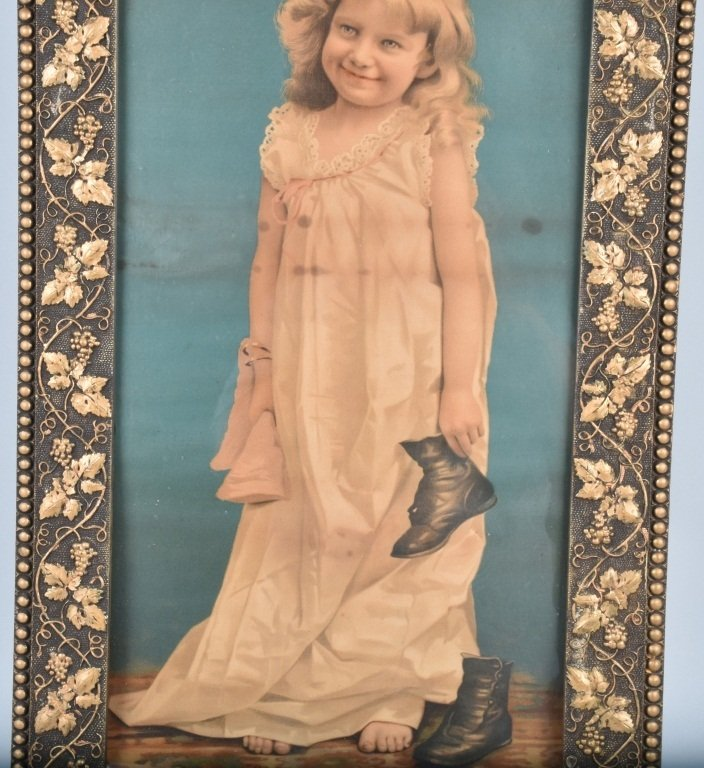 1890s A&P TEA CO. ADVERTISING POSTER w/ CHILD - 3