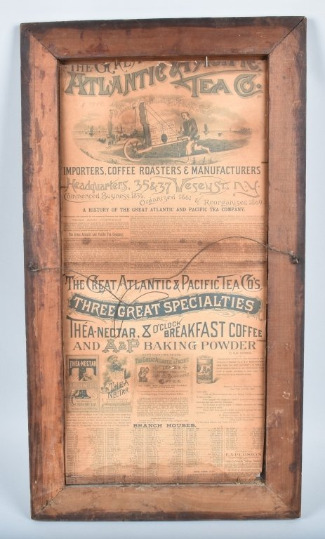 1890s A&P TEA CO. ADVERTISING POSTER w/ CHILD - 5