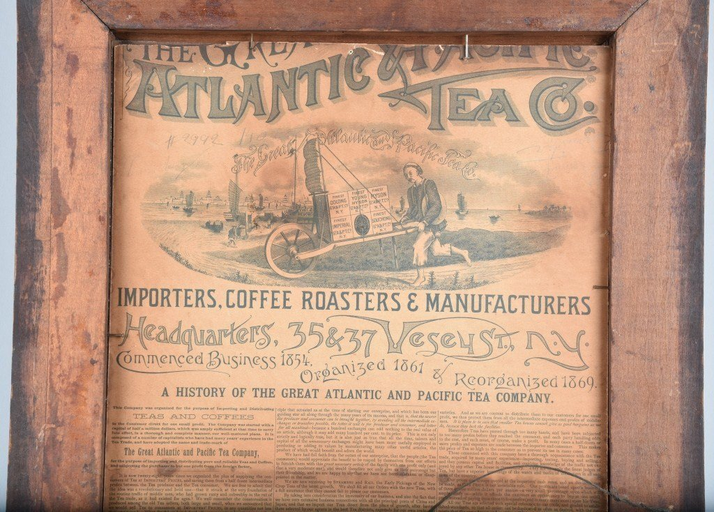 1890s A&P TEA CO. ADVERTISING POSTER w/ CHILD - 6