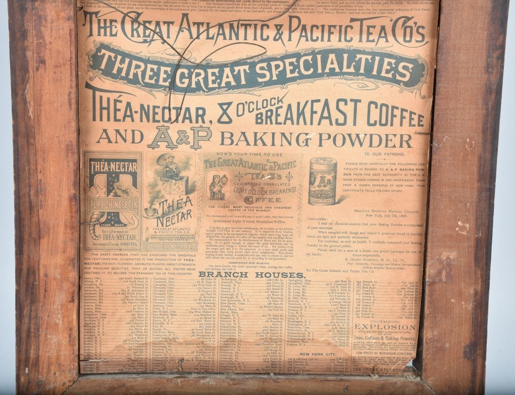 1890s A&P TEA CO. ADVERTISING POSTER w/ CHILD - 7