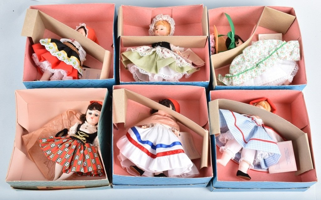 6-MADAM ALEXANDER DOLLS, BOXED