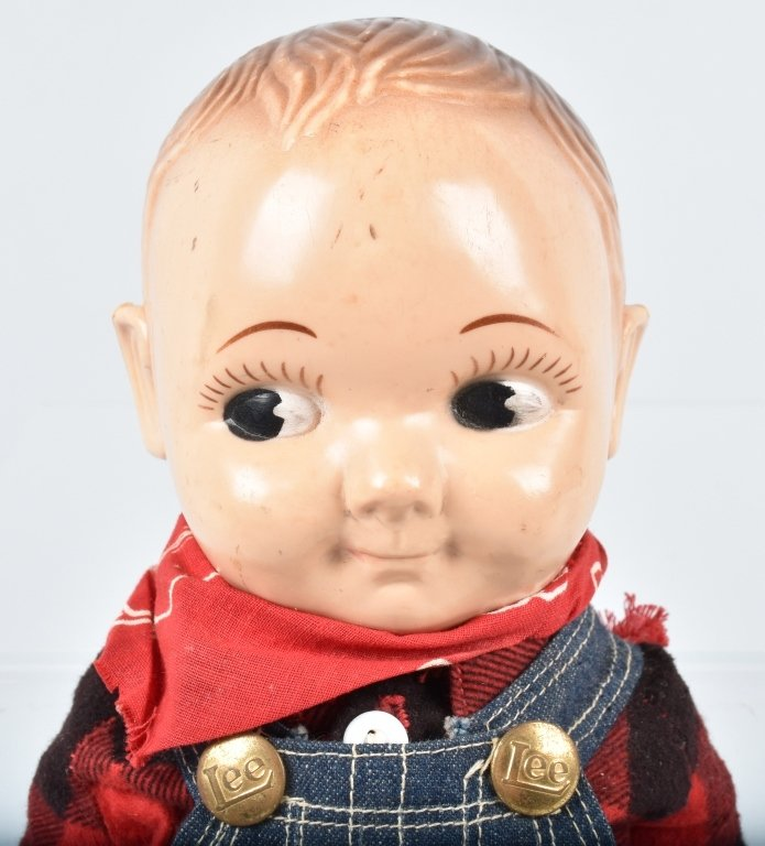 BUDDY LEE HARD PLASTIC DOLL, VINTAGE - 2