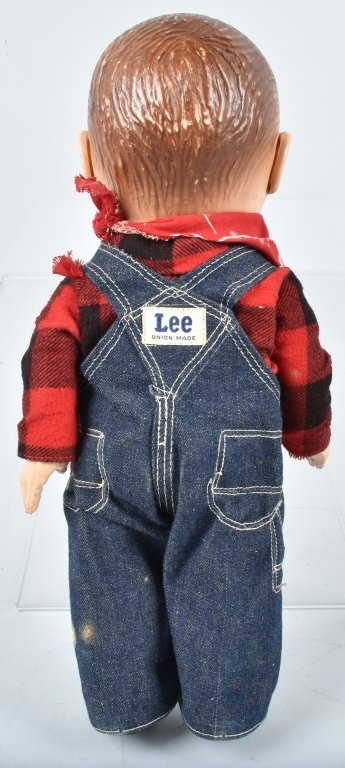BUDDY LEE HARD PLASTIC DOLL, VINTAGE - 3