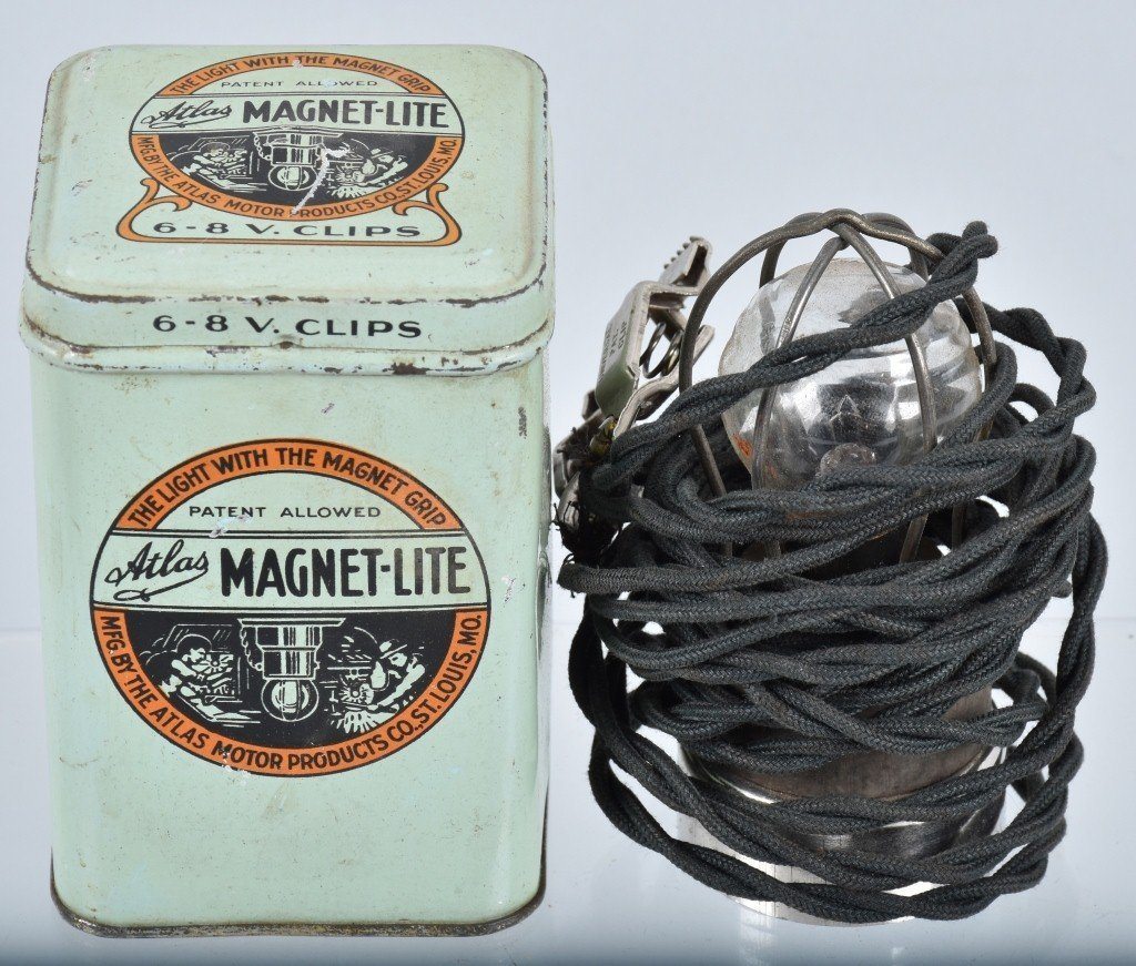 Lot of VINTAGE CAR FILTERS, LAMPS, TIRE KIT & MORE - 5