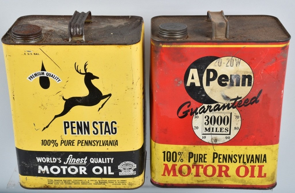 4- VINTAGE 2 GAL OIL CANS from Pennsylvainia - 3