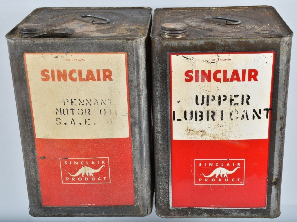 4- 5 Gallon VINTAGE SINCLAIR OIL & OTHER CANS - 2