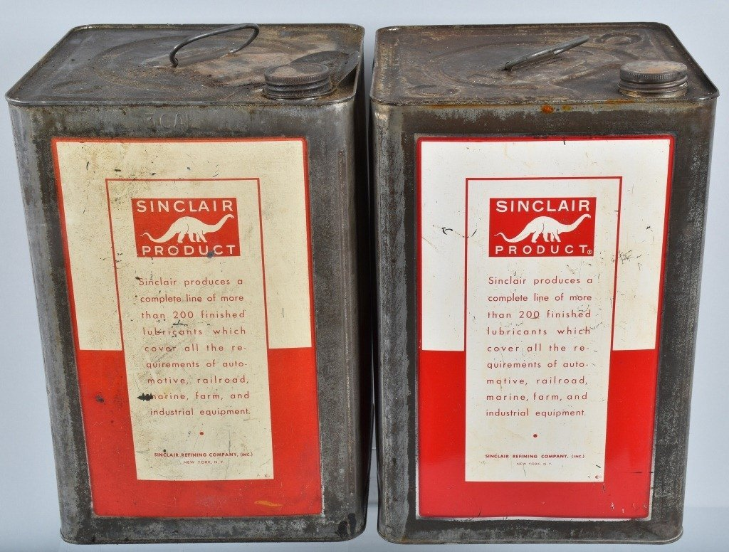 4- 5 Gallon VINTAGE SINCLAIR OIL & OTHER CANS - 3