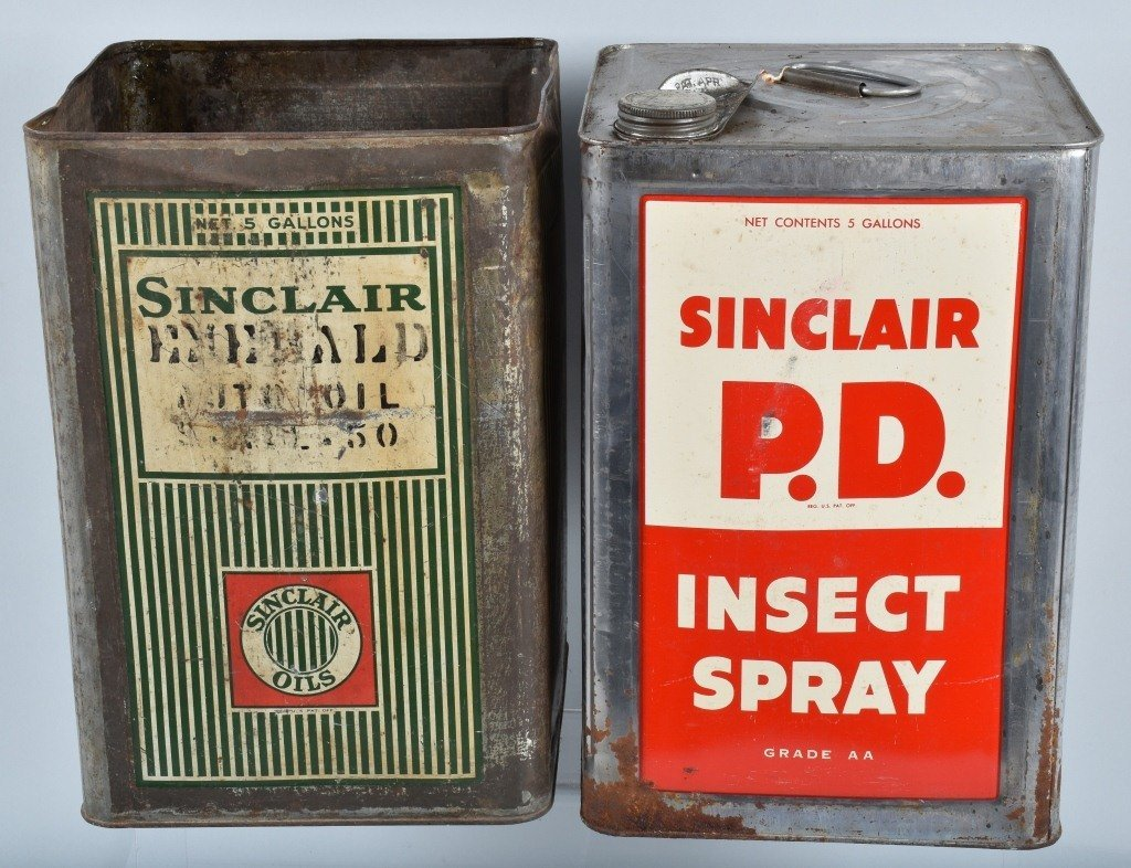 4- 5 Gallon VINTAGE SINCLAIR OIL & OTHER CANS - 5
