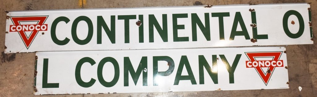 18' CONTINENTAL OIL COMPANY PORCELAIN SIGN