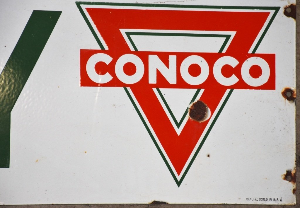 18' CONTINENTAL OIL COMPANY PORCELAIN SIGN - 3