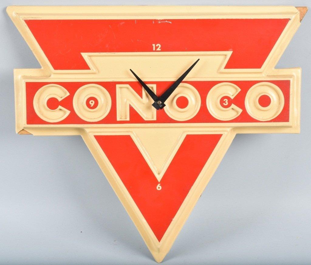 CONOCO PLASTIC CLOCK