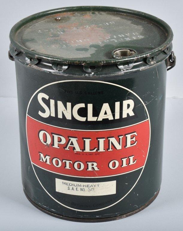 SINCLAIR OPALINE MOTOR OIL 5 GAL CAN