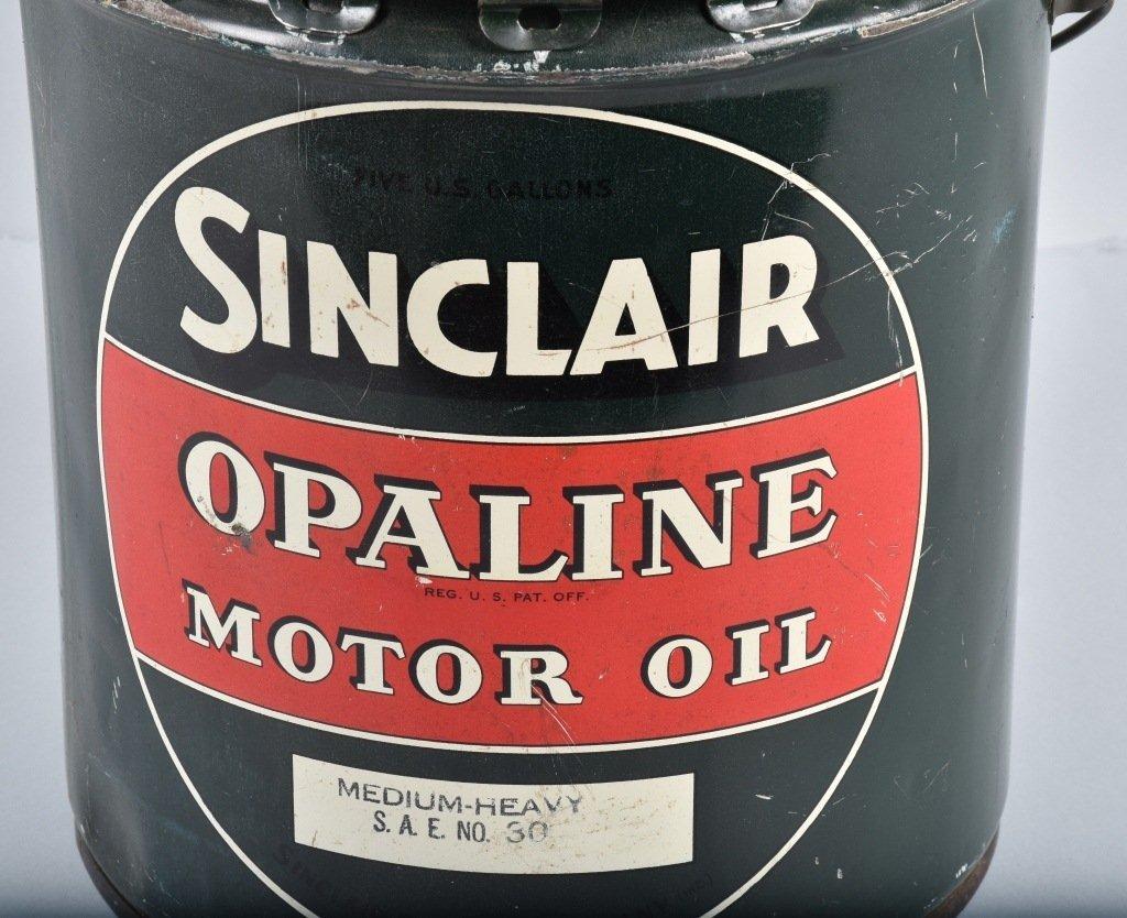 SINCLAIR OPALINE MOTOR OIL 5 GAL CAN - 2