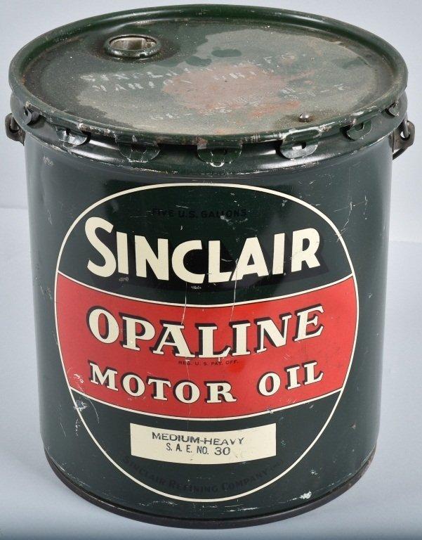 SINCLAIR OPALINE MOTOR OIL 5 GAL CAN - 3