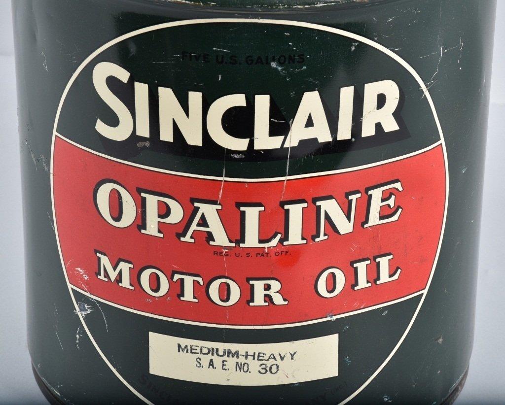 SINCLAIR OPALINE MOTOR OIL 5 GAL CAN - 4