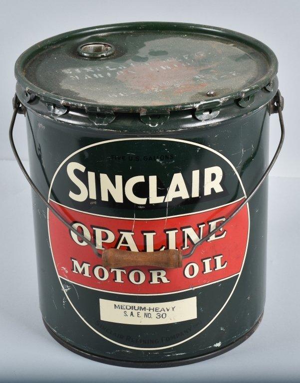 SINCLAIR OPALINE MOTOR OIL 5 GAL CAN - 5