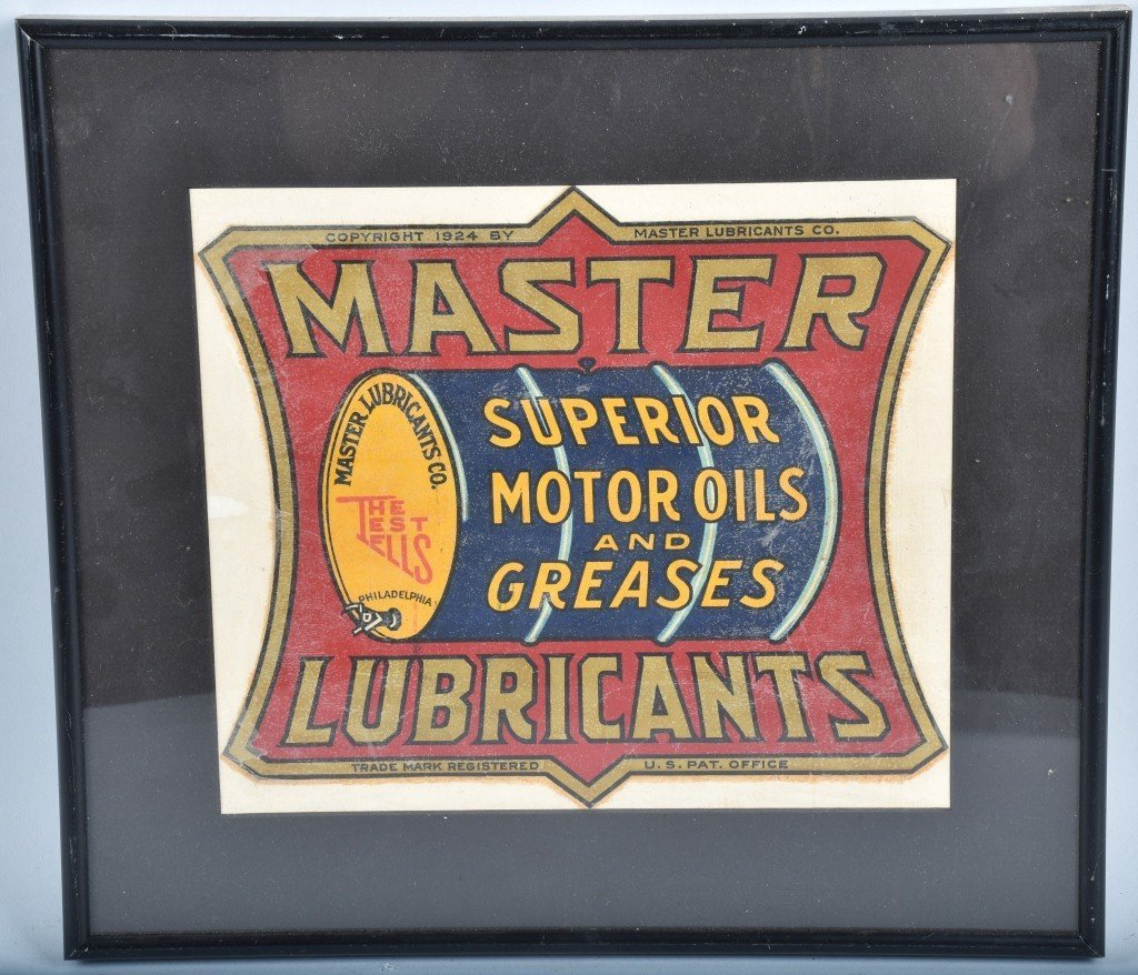 VINTAGE MASTER LUBRICANTS OIL BARRLE DECAL