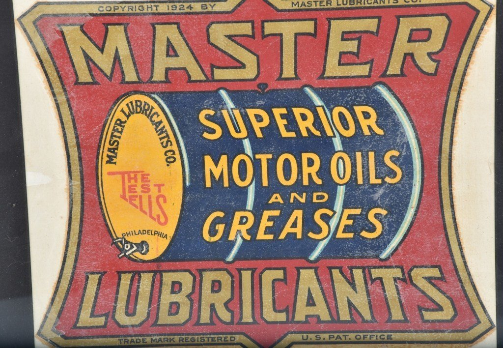VINTAGE MASTER LUBRICANTS OIL BARRLE DECAL - 2