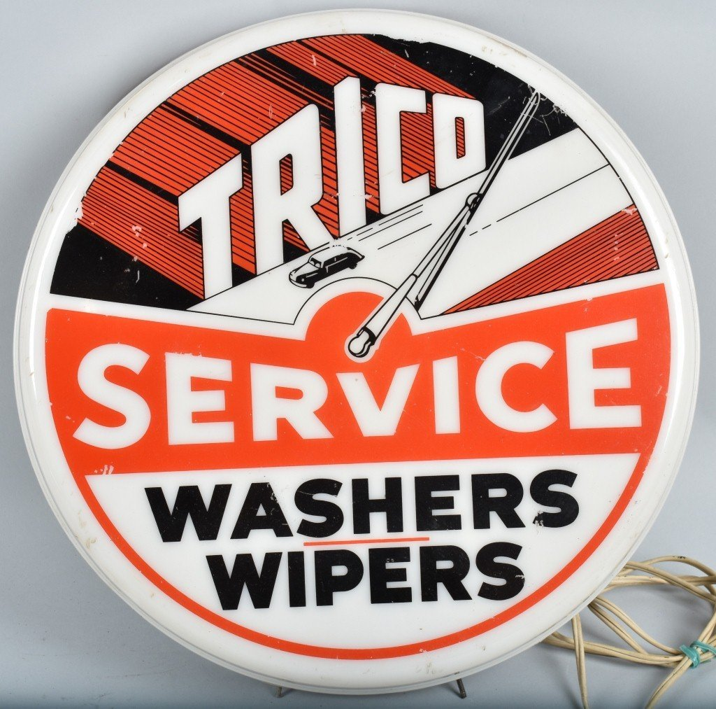 TRICO SERVICE WASHER/WHIPERS LIGHTED SIGN
