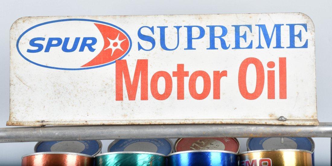 SPUR SUPREME MOTOR OIL DISPLAY RACK - 3
