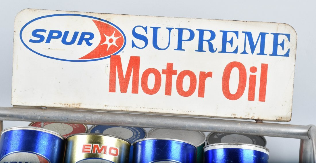 SPUR SUPREME MOTOR OIL DISPLAY RACK - 6
