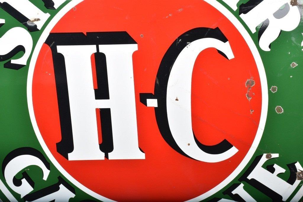"""72"""" SINCLAIR HC GASOLINE DS PORCELAIN SIGN - 3"""