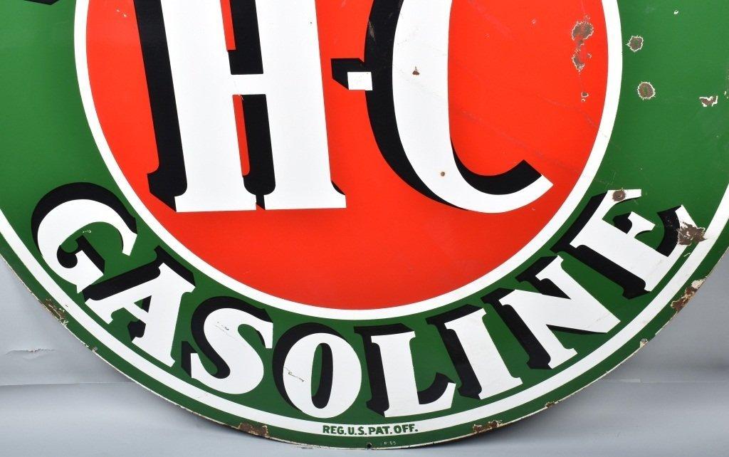 """72"""" SINCLAIR HC GASOLINE DS PORCELAIN SIGN - 4"""