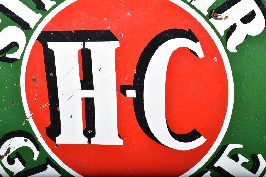"""72"""" SINCLAIR HC GASOLINE DS PORCELAIN SIGN - 7"""