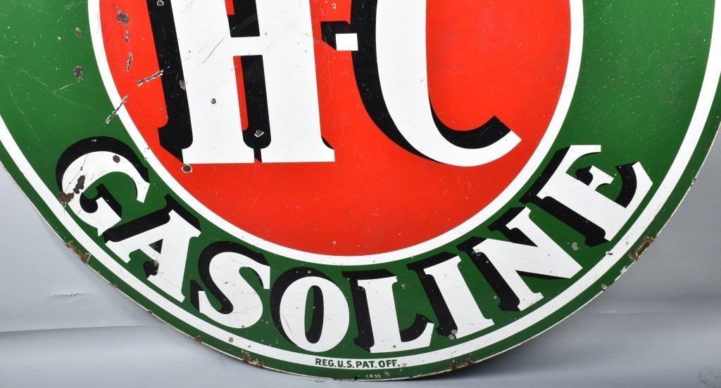 """72"""" SINCLAIR HC GASOLINE DS PORCELAIN SIGN - 8"""