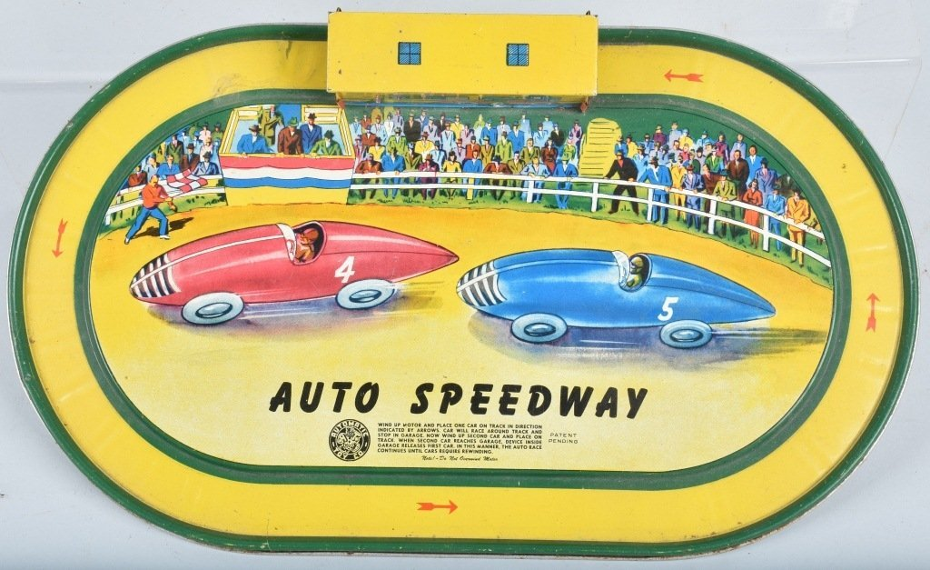 AUTOMATIC TOY AUTO SPEEDWAY w/ 2 CARS - 4