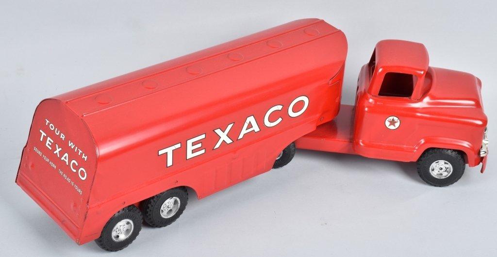 BUDDY L Pressed Steel TEXACO TANK TRUCK w/ BOX - 3