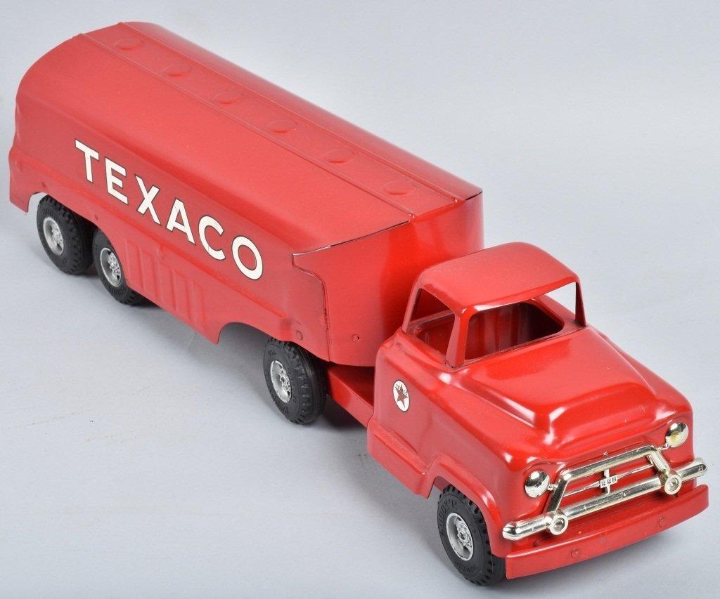 BUDDY L Pressed Steel TEXACO TANK TRUCK w/ BOX - 4