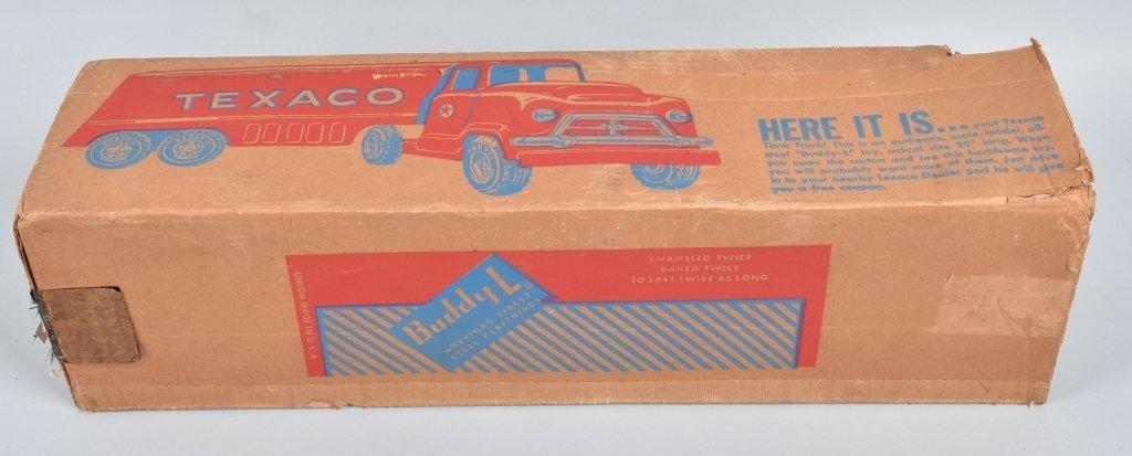 BUDDY L Pressed Steel TEXACO TANK TRUCK w/ BOX - 5