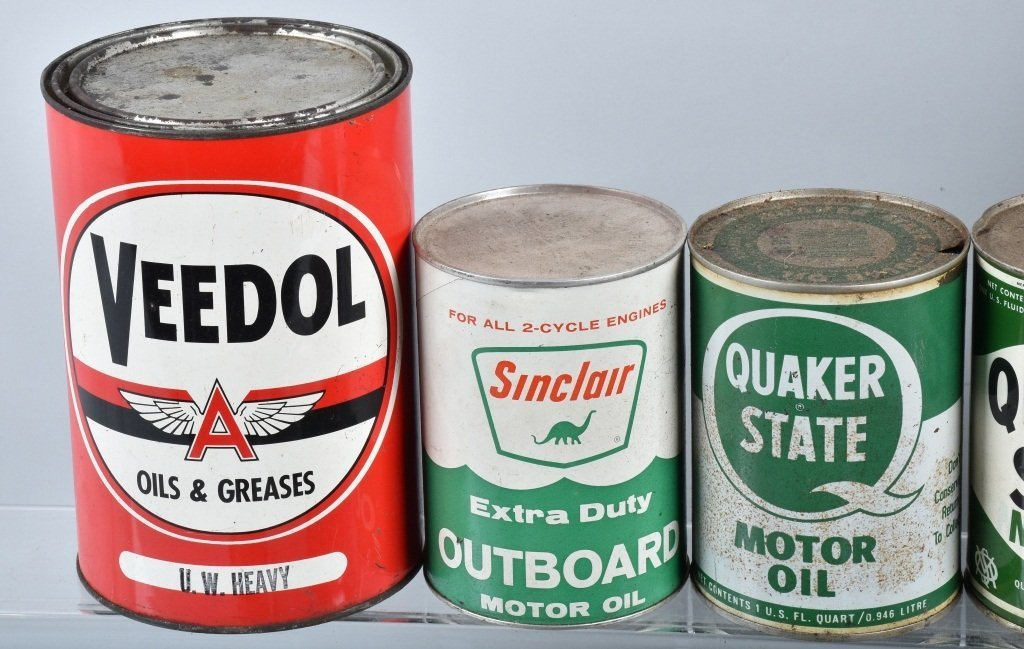Lot of  VINTAGE OIL CANS - 2
